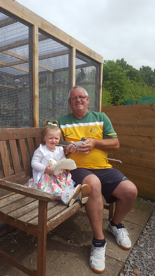 Alan Graham with his Grandaughter Florrie